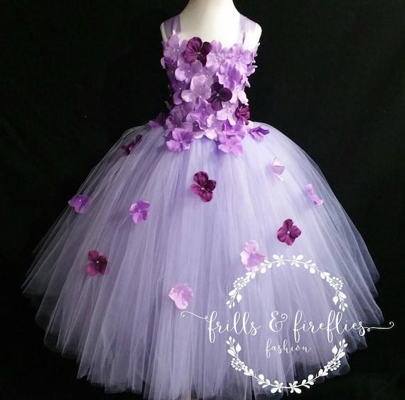 PurplePlum Corset Flower Girl Dress  Bridesmaid Dress  Prom Dress  Girls Dresses  Birthday Gift  Princess Dress  Formal DressWedding