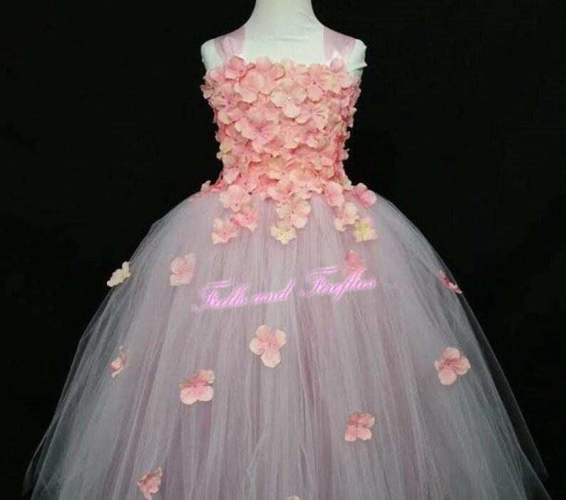 67a1f45bb9e Pink Rose Mauve Flower girl Dress   Pink Flower Girl Dresses
