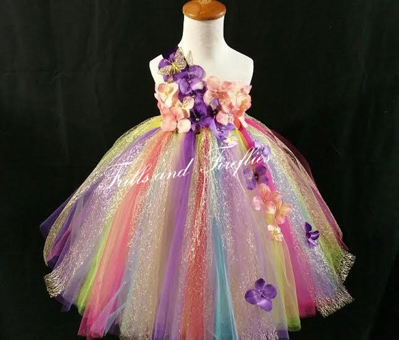 5b456fe75b1 Rainbow Fairy Flower Girl Dress   Flower Girl   Princess Dress