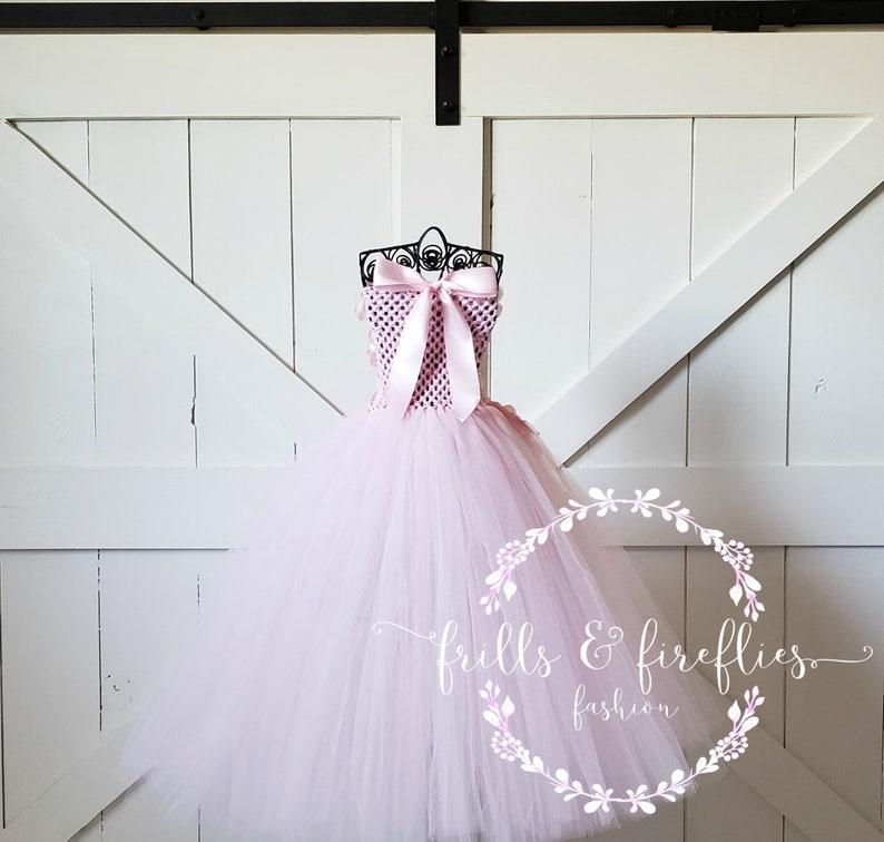 Light Pink Strapless Flower Girl DressFlower Girl DressBridesmaid DressProm DressSimple Wedding DressGirls DressesPrincess Dress