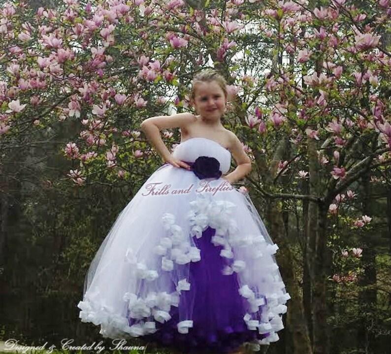 4515d651d8 White Purple Sleeveless Flower Girl Dress Summer
