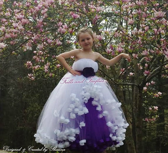 fa45b63ce8 White Purple Sleeveless Flower Girl Dress Summer