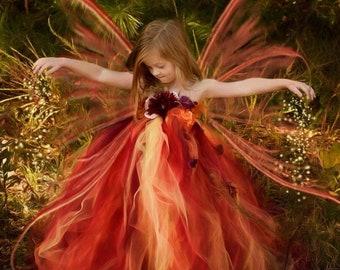 Woodland Fairy Flower Girl Dress, Festival & Fantasy Clothing, Princess Dress, Girls Dresses, Formal Dress, Summer Dress, Baby to Adult Size