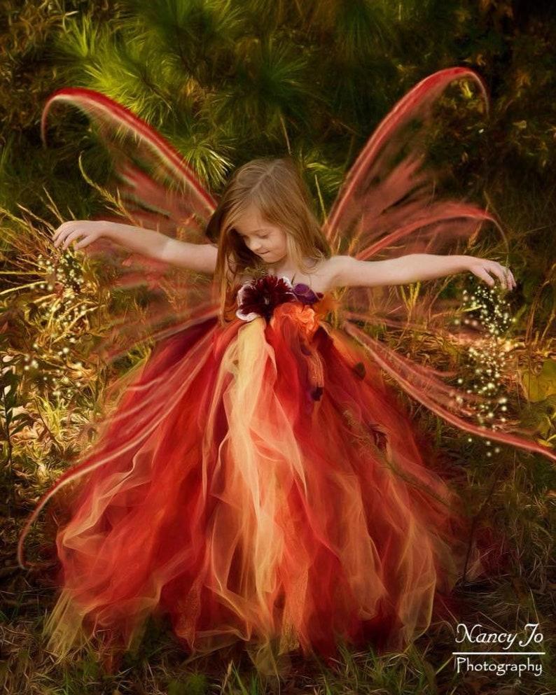 Woodland Fairy Flower Girl Dress Festival & Fantasy Clothing image 0