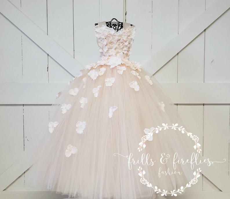 Nude Blush Flower Girl DressFlower Girl DressBridesmaid DressProm DressSimple Wedding DressGirls DressesPrincess DressFormal Dress