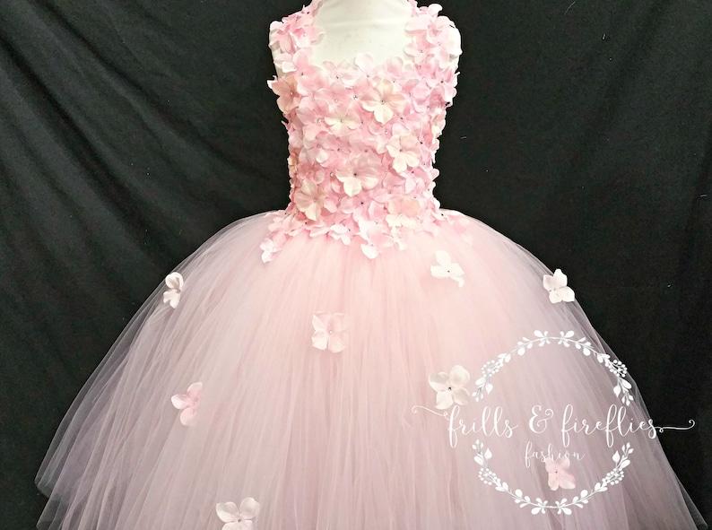 Pink Flower girl Dress  Pink Flower Girl Dresses  Bridesmaid Dress  Princess Dress  Formal Dress  Simple Wedding Dress  Flower Girl