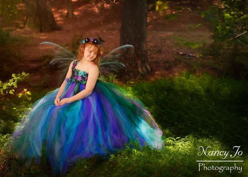 e6345867d Peacock Fairy Flower Girl Dress / Flower Girl Dress / Princess | Etsy
