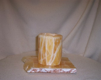Large Honeycomb Calcite candle