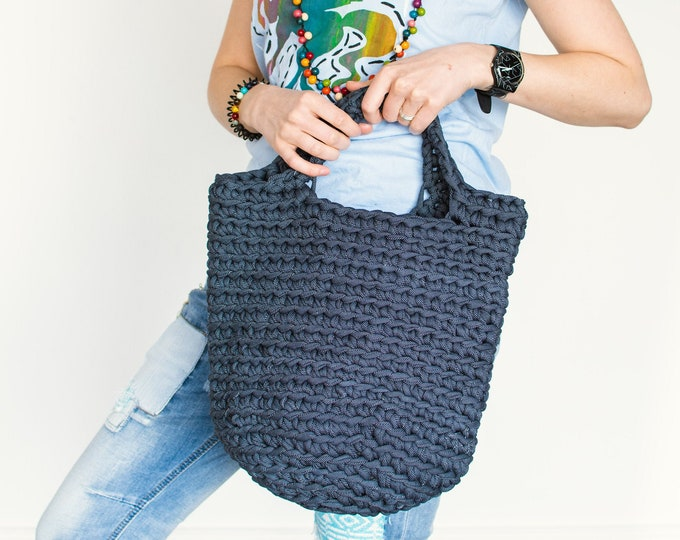 "Blue ""Denim Bag"" Shopping Tote Bag"