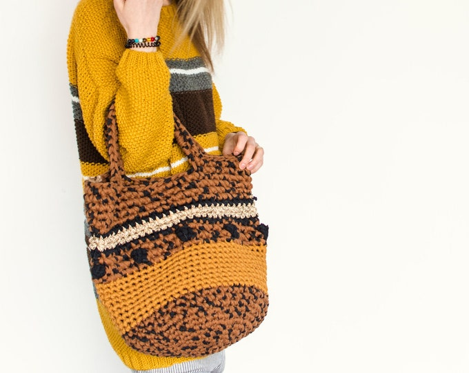 "Yellow ""Animal Print"" Summer Shopping Bag"