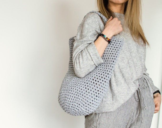 "Grey ""Everyday Bag"" Shopping Tote Bag"