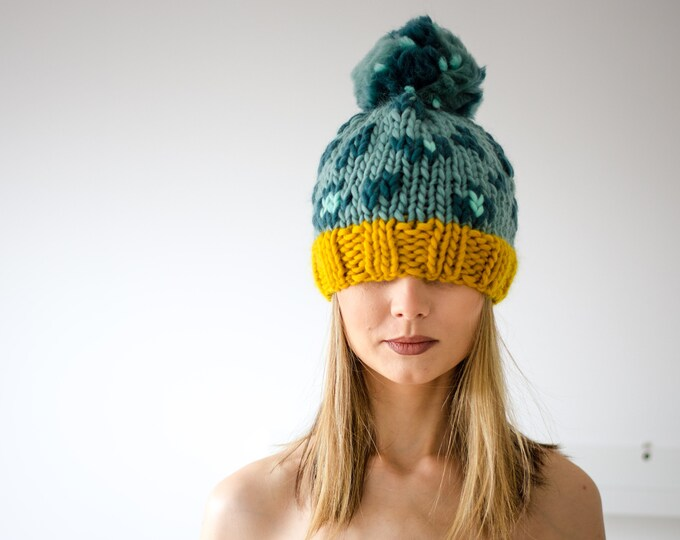 Animal Print Beanie Hat Teal