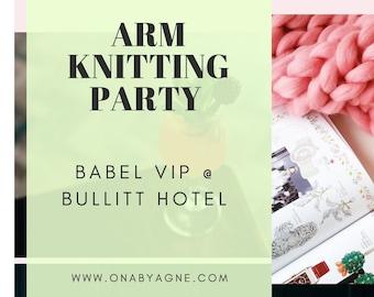 Babel VIP Knitting Party. Bullitt Hotel. Belfast. 24th November 2019