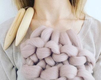 Giant knitting needles size 50 25mm diameter for chunky knitting circular chunky knitting needles