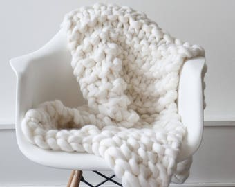 Knit blanket Luxury Throw