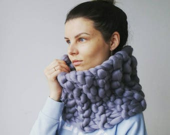 Knit Scarf. Gift for her. Chunky Snood. Infinity scarf