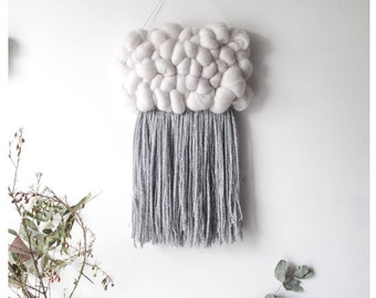Grey Mini Cloud Woven Wall Hanging Nursery Decor