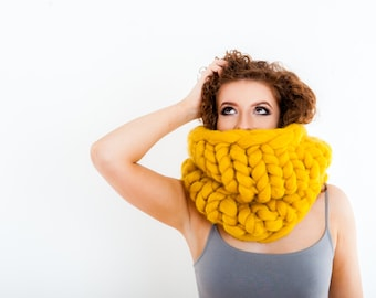 Infinity Scarf Neck Warmer Luxury Chunky Snood Valentines gift