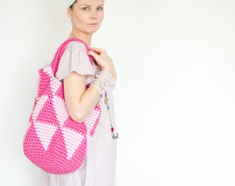 "Pink ""Not Just"" Summer Shopping Bag"