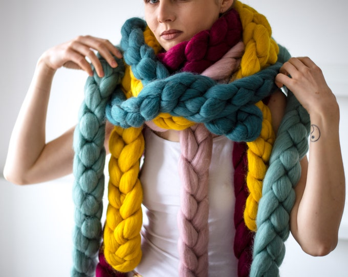 Chunky Chain Winter Scarf