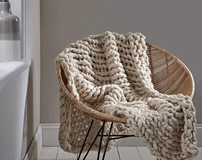 Chunky Knit Throw Cream