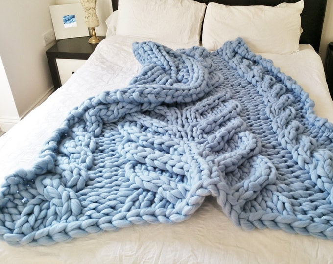 Knit Bed Runner Chunky Knit Throw