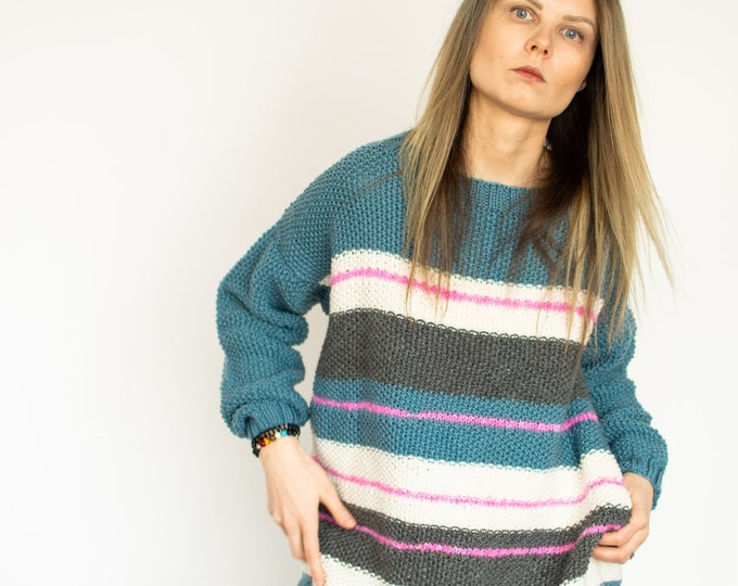 "Oversized ""Sky"" Jumper One of a kind"