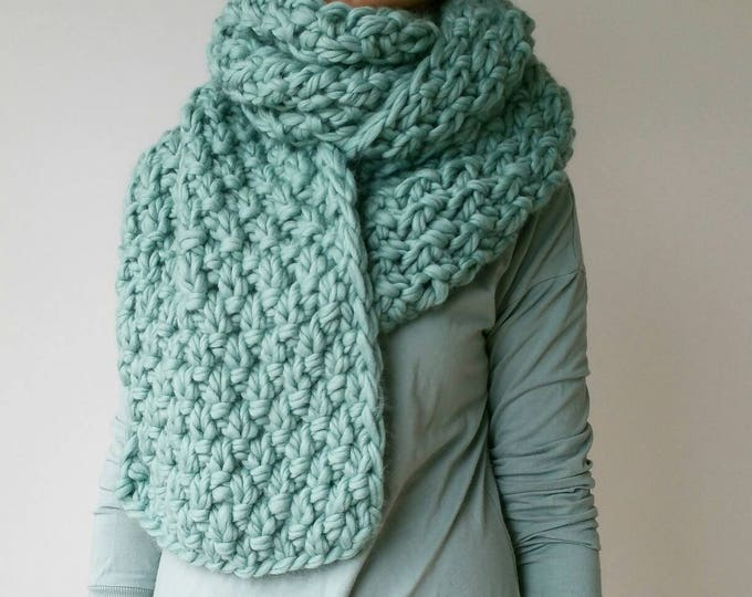 Oversized Knit Scarf Chunky Snood
