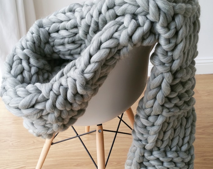 DIY Knit Kit Extremely Chunky Blanket Merino