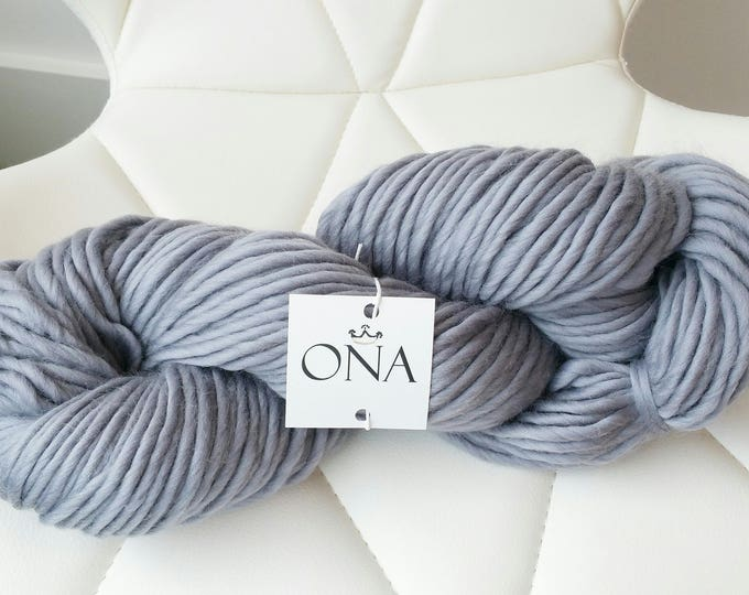 Super Chunky Yarn. Merino Wool. Knitting Yarn. Grey