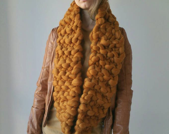 Knit Snood Chunky Oversized Collar
