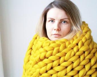 SALE Chunky Knit Blanket