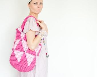 "Pink ""Not Just"" Summer Shopping Bag"