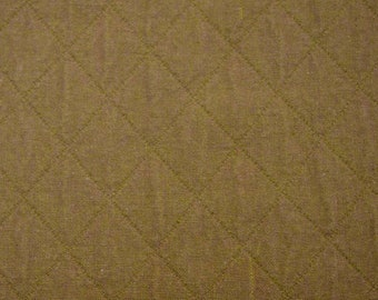 Olive Diamond Quilted Fabric