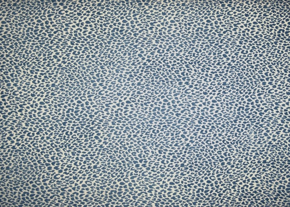 M9818 Delft Chenille Animal Print Blue Upholstery Fabric Etsy