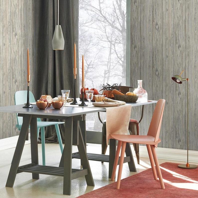 Yard RMK9086WP Grey Mushroom Wood Shiplap Peel /& Stick Wallpaper