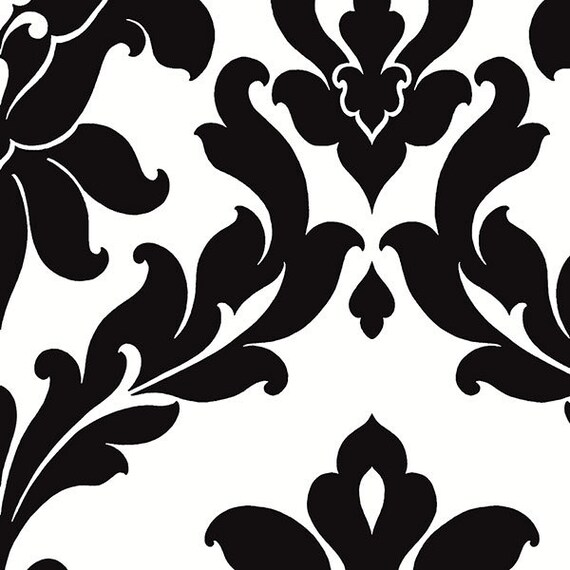 VG26230P Black And White Damask Wallpaper Yard