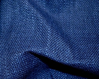 REMNANT Blue Chenille Fabric 56 inches x 1 yard
