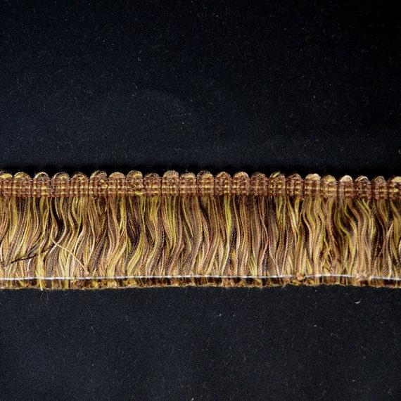 CS500 192 Copper Brown Brush Fringe Trim Fabric