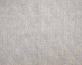 Soft Blue Diamond Quilted Upholstery Fabric