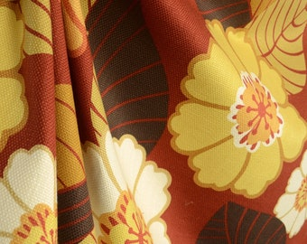Flower Power Tomato Weave Cotton Big Floral Fabric
