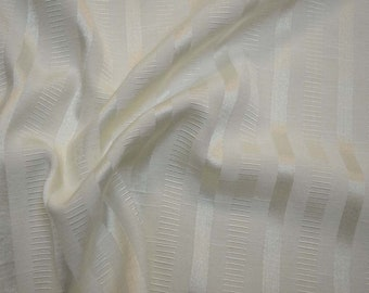 REMNANT White Stripe Fabric 54 inches x 1 yard