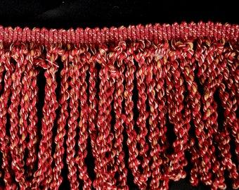 7.5 inch Red Bullion Decorative Fabric Trim