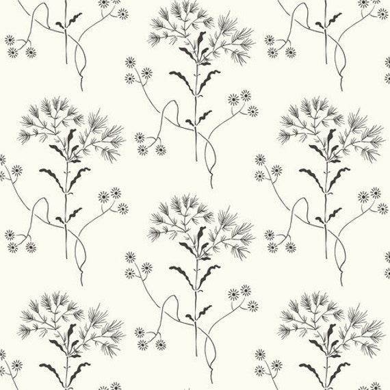 Magnolia Home Wildflower Wallpaper ME1515 designer black SureStrip
