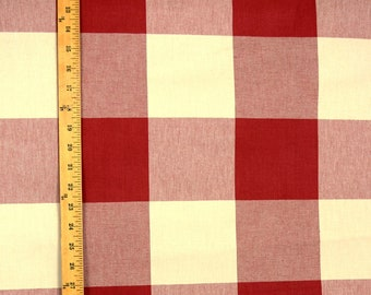 Buffalo Check Claret Red White