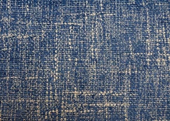 Castleford Indigo Waverly Fabric Blue Damask Print