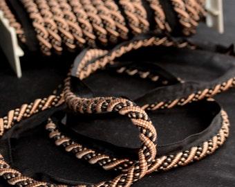 Dijon Frape Black Taupe Lip Cord Trim Fabric