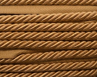 """1/4"""" Tan Braided BC10008 28 Barley Colo Belagio Trim"""