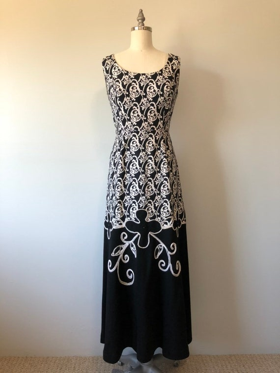 Rockabilly Vintage Dress/ Evening Gown / Beautifu… - image 3