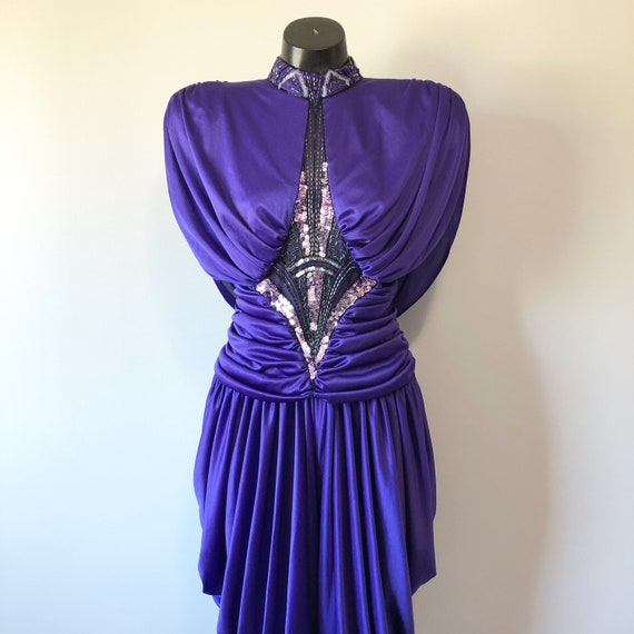 Gorgeous Purple 80s Onesie / Evening Wear Vintage
